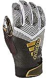 adidas Adizero 8.0 REDACTED Football Receiver's Gloves White/Black Large