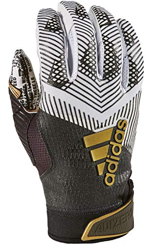 adidas Adizero 8.0 REDACTED Football Receiver's Gloves White/Black X-Large
