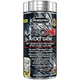 MuscleTech NaNOX9 Pre Workout Amplifier, Boosts Nitric Oxide for Extreme Muscle Pumps & Enhanced Blood Flow & Nutrient Delivery, 120 Pills