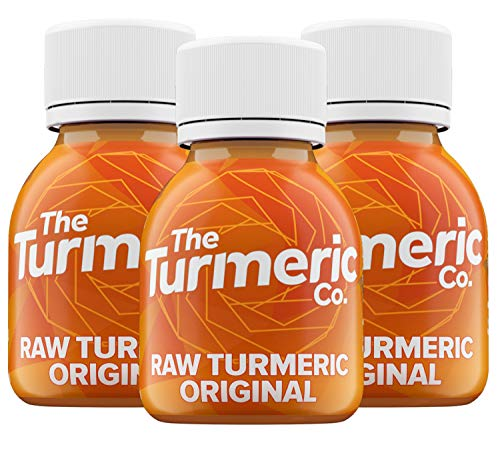 The Turmeric Co - Liquid Turmeric Drink Shots - High Strength 35000mg of Fresh Turmeric Root with Black Pepper, Pineapple, Lemon, Flax Oil, No Added Water, 9 Shots Cold Pressed, Vegan - Made in UK