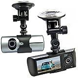 Generic 6,86 cm LCD de lente doble cámara para el coche para salpicadero de coche cámara...