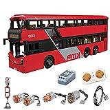 YIGE Maqueta de autobús de doble piso Mould King KB800, escala 1:16, con mando a distancia y motor de 3542 piezas, juguete de construcción compatible con la técnica Lego