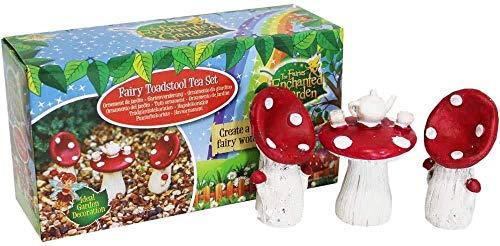 Fairy Toadstool Tea Set Garden Decoration