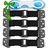 METAL Anti Tip Furniture Kit - TV Straps Safety (4 PACK+ 1 LOCK) Earthquake Straps - Furniture Anchors For Baby Proofing - Wall Straps For Flat Screen - Child Proof Mounting Strap, Flatscreen Antitip