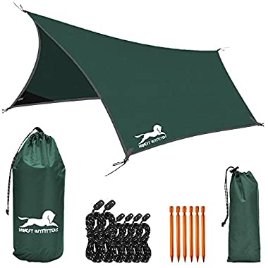 HONEST OUTFITTERS Hammock Rain Fly-waterproof for camping backpacking(green)