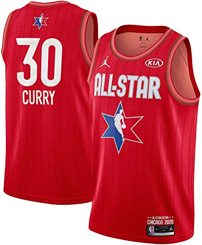 NBA Youth 8-20 All Star 2020 Red Youth Swingman Player Jersey (Stephen Curry, 10-12)