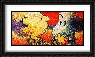 Dog Breath 2X Matted 40x28 Large Black Ornate Framed Art Print by Tom Everhart