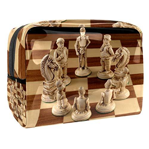 Kit de Maquillaje Tablero de ajedrez Neceser Makeup Bolso de Cosméticos Portable...