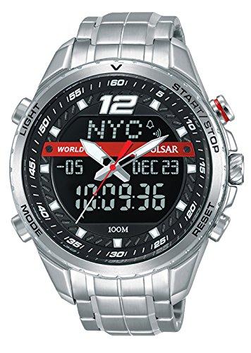 Pulsar accelerator orologio Uomo Analogico - Digitale Al quarzo con cinturino in Acciaio INOX PZ4025X1