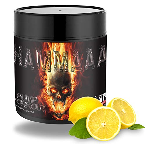 Strong Muscle Nutrition HAMMAAA PUMP Pre Workout Booster, Trainingsbooster für Frauen & Männer, 300g Lemon pro Portion 200mg Koffein hochdosiert