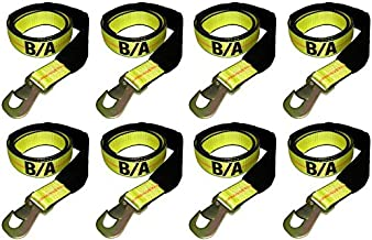 BA Products 38-3D-x8, Set of 8 Straps with Snap Hooks for Dynamic, Century, Vulcan Autoloader Wheel Lifts, Wreckers, Tow Trucks