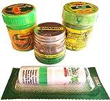 Lot de 3 coussins parfumés thaïlandais aux aux huiles essentielles pour la relaxation et l'aromathérapie + 1 stylo parfumé menthol.