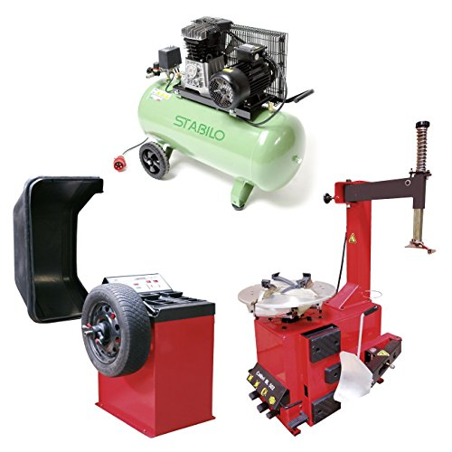 Auswuchtgerät + Reifenmontiergerät + Kompressor 10 bar 400 V