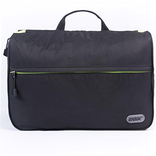 Beauty Case da Viaggio, GOX Premium 420D Nylon Impermeabile Folio portatile fronte Kit Open Design Pacchetto Borsa / Lavanderia / Borsa da Toilette / Organizzatore di Viaggi con gancio / One-Day Pack Bag (Large, Nero)