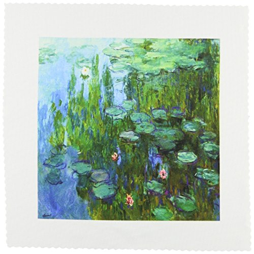 3dRose qs_49340_1 Monets Water Lillies Painting Quilt Square, 10 by 10-Inch