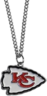 "NFL Chain Necklace with Small Pendant, 20"", Silver"