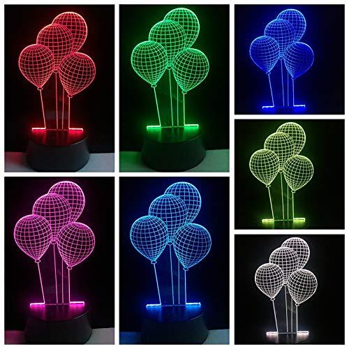 Te amo amante corazón globo 3D LED USB luz decoración romántica 7 colores luz nocturna novia regalo día de la madre boda