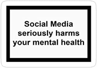 Hik kal Shop Social Media Seriously Harms Your Mental Health Stickers (3 Pcs/Pack)