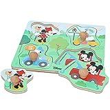 Disney - Puzzle infantil niños 1 año Puzzle infantil 5 Piezas grandes Juguetes educativos Motricidad fina Puzzles niños Puzzle niñas Juguete bebé Juguetes madera 1 año Disney