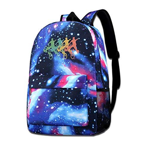 """Hdadwy Retro """"BMX Galaxy"""" kuprinė """"Unisex Bookbag Travel"""" laisvalaikio krepšys mokyklinėms kelionėms lauke"""