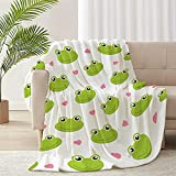ARNOVIC Cute Animals Series Frog Throw Blanket for Sofa Couch Suitable All Season Soft Flannel Decorative Cozy Lightweight Keep Warm 50'x40' for Kids