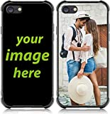 Custom Case for iPhone 7/8/new SE (2020) Customized Phone Case Anti_Scratch Shock Resistant Soft TPU and Hard Glass on Back Personalized Photo Make Your Own Protective Picture Phone Cases
