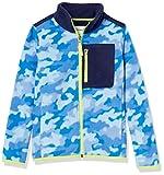 Amazon Essentials Kids Boys Polar Fleece Color-Blocked Jackets, Colbalt Camo/Navy, Small
