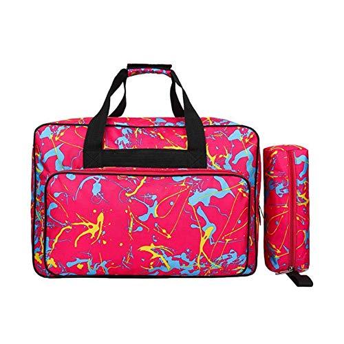 LQNB Bolsa de MáQuina de Coser de Gran Capacidad Multifuncional Bolsa de Almacenamiento PortáTil de Viaje Bolsas para MáQuina de Coser Herramientas de Costura Bolsas de Mano Rosa Roja