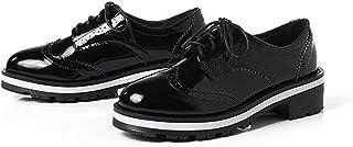 [THLD] オックスフォードシューズ おじ靴 レースアップシューズ ウィングチップ カジュアルシューズ レディース ワークブーツ レースアップ 4ホール 走れる マニッシュ 厚底 紐 ブラック 黒 靴 韓国風 4cmヒール 大きいサイズ 小さいサイズ