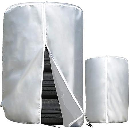 タイヤカバー 車 屋外 防水 紫外線 3年耐久 タイヤ 保管Q&A集 位置シート 収納袋 付属 <正規1年保証> Sサイズ 65×90cm (普通車 ミニバン用) TC-001 CREEKS®