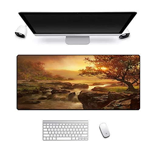 Musmattor spel stor halkfri gummibas skrivbord laptop tangentbord sydda kanter, XXL vattentät stenström 800 x 300 x 3 mm