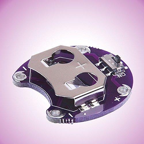 Tiptiper Componente Electrónico CR2032 Botón de la célula de la moneda Sostenedores de la batería Placa del módulo del montaje