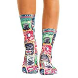 Wigglesteps Damen Socken Coffee Retro, one Size, 36-40