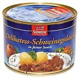 SIMON Menu Delikatess - Schweinegulasch in feiner Sauce Die Marke Simon garantiert qualitativ hochwertige Produkte für die gute Küche.