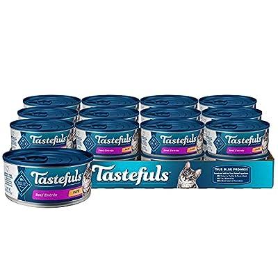 Blue Buffalo Tastefuls Natural Pate Wet Cat Food Beef Entrée 5.5-oz cans (Pack of 24)