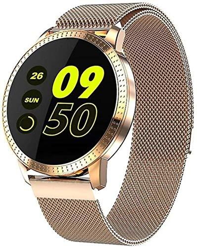 DSY Smart Watch Cf18 Pantalla de Color Pulsera Inteligente Ritmo Cardíaco Monitoreo de Presión Arterial Pantalla Redonda Reloj Deportivo Impermeable para Hombres Y Mujeres para Andr