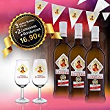 Manzanilla La Gitana - Pack 3 Botellas 37,5 Cl. + 2 Catavinos + Banderines