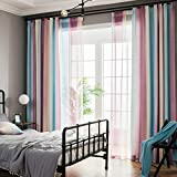 PP&DD Blackout vorhänge,Drapieren Wärmeisoliert Gardine Fertige Vorhang,Für Schlafzimmer Wohnzimmer Einfache Moderne Eine Scheibe Rosa 150x270cm(59x106inch) Vera