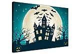 Halloween Dekoration Full Moon Kirche und Flying
