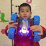 Stunt Car chargeable for les enfants, la télécommande de voiture, 4 roues motrices 2.4GHz 360 degrés Flips double face Tumbling voiture de course Rotating Crawlers Chariot LED Lumières jouets for garç