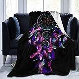 gfhfdjhf Micro Fleece Decke Throw Blanket Dream Catcher Ultraweiche Fuzzy Light Weight Gemütliche warme Flauschige Plüschdecke Mikrofaser für Bettcouch Home 60'x50