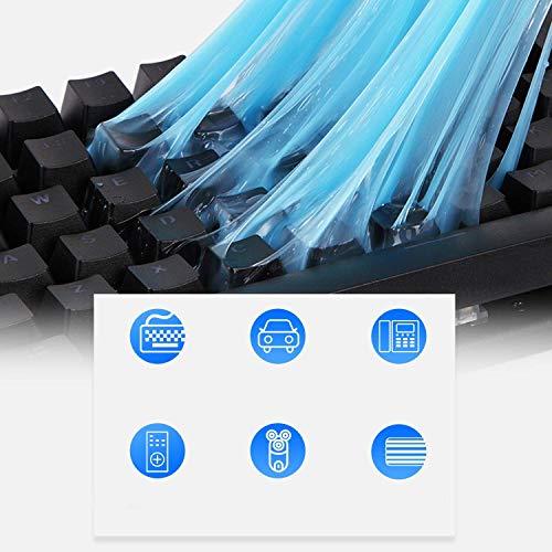 Gel Limpiador Teclado, Reutilizable Limpiador de Teclado, Universal Keyboard Dust Cleaner para Computadoras, Ventilaciones de Automóviles, Impresoras, Calculadoras (2 Packs Gel de Reemplazo)