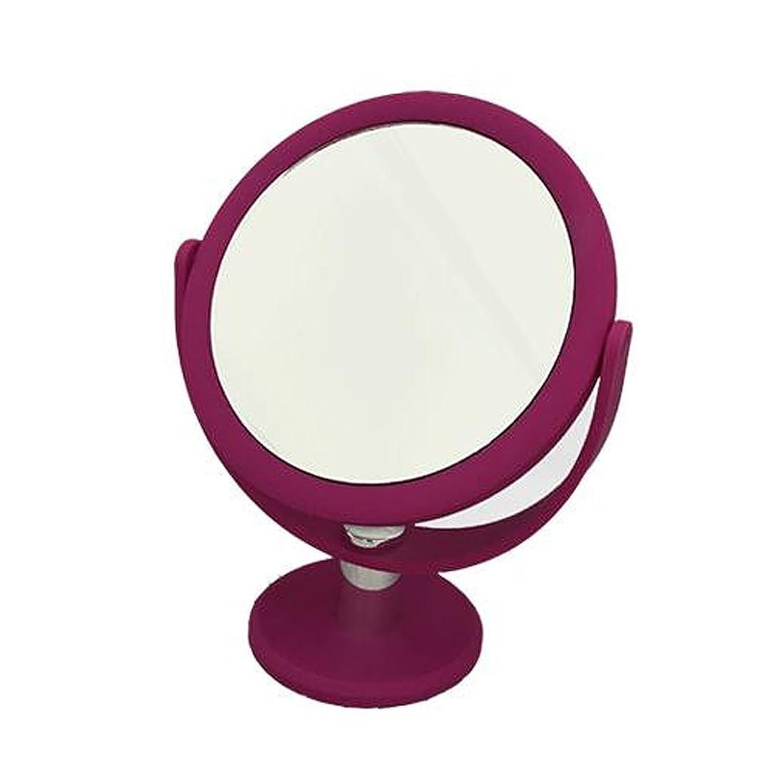 旅浴室ラテンメリー 片面約10倍拡大鏡付 スタンドミラー AF-2 ピンク