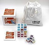 FRITZO Cube Weiß | Gesellschaftsspiel & Knobelspiel | Geduldspiel für Erwachsene, Jugendliche & Kinder ab 4 Jahren | Hochwertiges Holzspiel für 1-4 Spieler | Konzentrationsspiel Made in Europe