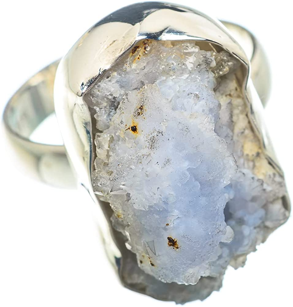 Ana Silver discount Co Rough Rainbow Moonstone Sterlin 8.5 Size Oakland Mall 925 Ring