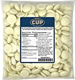 By The Cup White Chocolate Wafer Candy Melts 2 lb Bag for Chocolate Fountain, Fondue Sets, Molds and...