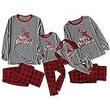 Sanahy Eltern Kind Pyjamas Weihnachtsfamilien Pyjamas Nachtwäsche Rentierkleidung Karierte Blusenhose Passender Weihnachts Set Pyjamas