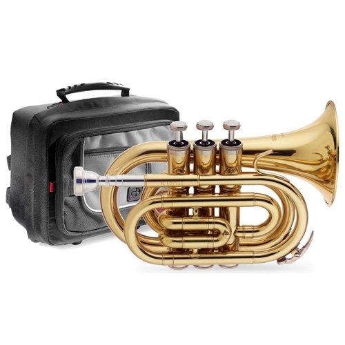 Stagg WS-TR245S Trompette poche SIB + Etui Or