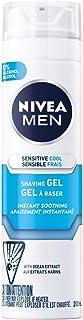 NIVEA Men Sensitive Skin Cooling Shaving Gel (200mL), Shaving Gel for Sensitive Skin, Allows for a Close Razor Shave and L...