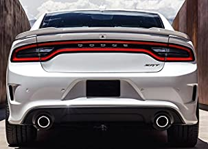 California Dream Works With: 2015 2016 2017 2018 Dodge Charger Factory Hellcat Spoiler Painted (Gloss Black PX8)